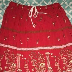 Filia Women's Size Medium Red Skirt Made in Greece